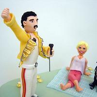 Freddie Murcury singing to the Birthday girl! by Wayne