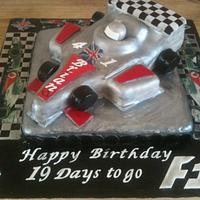 Formula One cake