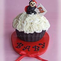 Ladybug Buccaneers giant cupcake