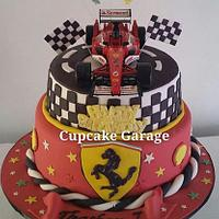 F1 Racing themed cake