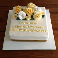 Diamond anniversary cake by Cakes Honor Plate