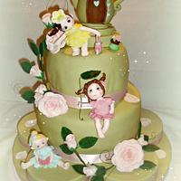 garden fairies cake & sweet table by luciana
