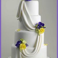 Spring Drape Wedding Cake