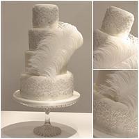 Great Gatsby Wedding Cake by TiersandTiaras