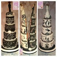 Half and half wedding cake.Cake international entry