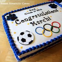 Special Olympics Themed Graduation Cake by Michelle