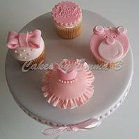 Pink, Pink and More Pink Cupcakes by CakesByEmmaB