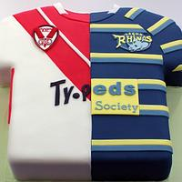 Rugby Shirt Wedding Cake