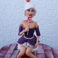 Miss Lollypop-sugar sculpture
