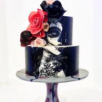 Dia De Los Muertos Sugar Skull Cake