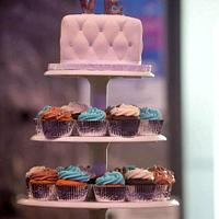 LOVE Wedding cupcake tower