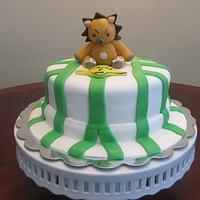 Bleach Theme Cake - Uruhara's Hat and Kon Cake