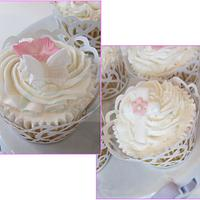 Baby Girl Christening / Baptism Cake & Cupcakes by Cake Creations by ME - Mayra Estrada