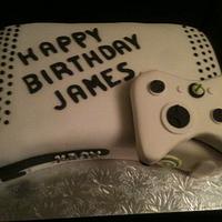 x box birthday cake by Swirly sweet