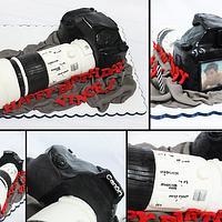Canon 50d Camera with Canon Super Telephoto Lens Cake