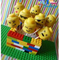 Many Faces of LEGO cake pops