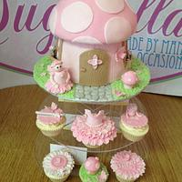 Fairy Cottage with matching cupcakes!
