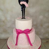Gracie's Gru christening cake