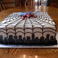 Spiderman Groom's Cake