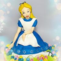 """""""Alice in Wonderland"""" cake topper"""