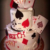 High Roller Themed Birthday Cake