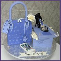 Louis Vuitton Handbag cake with Prada Stiletto