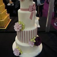 Rose, Peony & Hydrangea Wedding Cake - Cake International Entry by Let's Eat Cake