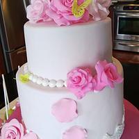 bridal shower cake by Rostaty