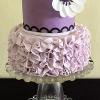 Purple Ruffle Mini Cake