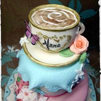 'Nana Loves Tea' Cake