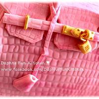 Pink Birking bag cake by DaphneHo