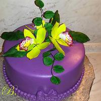Cimbidium orchid cake