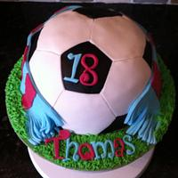Aston Villa football cake