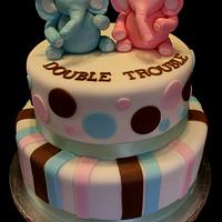Double Trouble Babyshower cake by Jewell Coleman