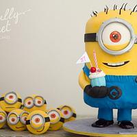 Tim the One-Eyed Minion & Minion Army Cake