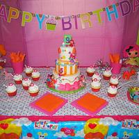 LaLa Loopsy for my daughter's 9th birthday by Christie's Custom Creations(CCC)