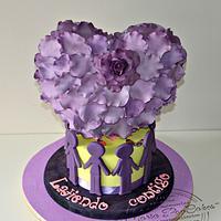 Purple day cakes