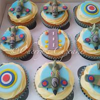 Aeroplanes & Fishing Cupcakes by Cherry's Cupcakes