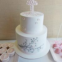 Baptism cake by Margarida Abecassis