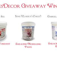 CakesDecor Giveaway 2019 #2: Winners!