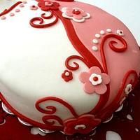 Two-tone whimsical cake