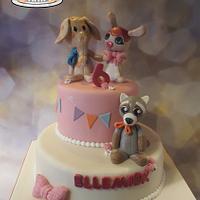 stuffed animals cake