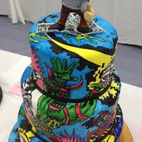 Jack Kirby coloring Book themed cake
