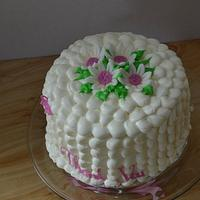 "Petal Effect ""Thank You"" Cake"