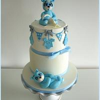 Sweet blue baby bear