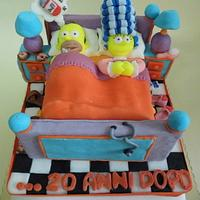 stag/hen party cake by PinkCakE