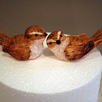 Sparrow cake toppers