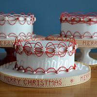 Christmas Royal Icing Stringwork Cakes