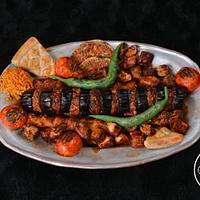 Food cake challenge Turkish kebab