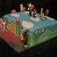 Super mario cake  by KerryCakes